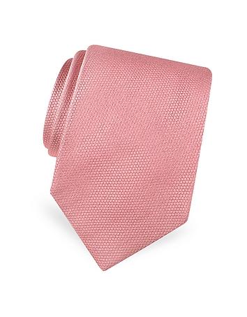 Forzieri Gold Line - Cravate en soie tissée structurée unie
