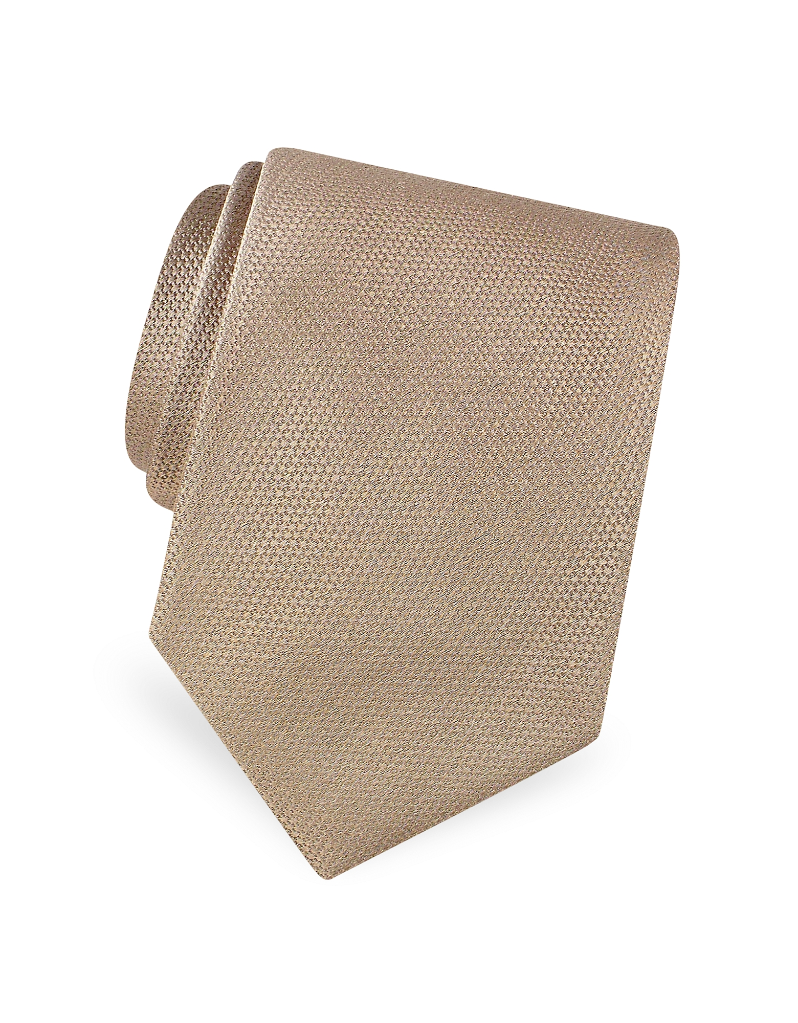 Forzieri Ties, Gold Line Solid Woven Silk Tie