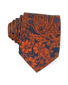 Ornamental Woven Silk Tie - Forzieri