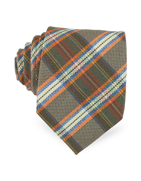Foto Forzieri Cravatta in Seta a Quadri Cravatte