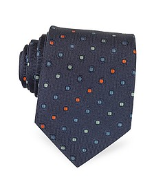 Multicolor Dots Woven Pure Silk Men's tie - Forzieri