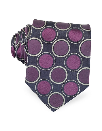 Optical Woven Silk Tie