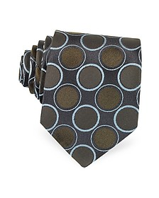 Optical Woven Silk Tie - Forzieri