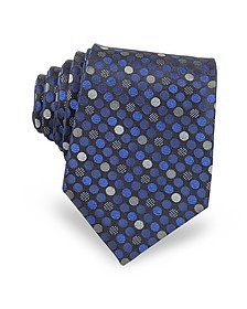 Pure Silk Woven Polka Dots Men's Tie - Forzieri