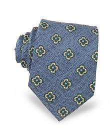 Daisy Woven Silk Men's Tie - Forzieri