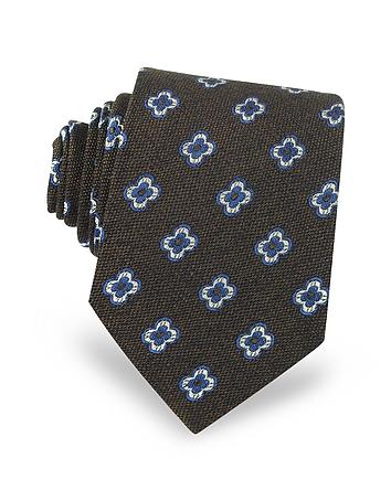 Forzieri - Daisy Woven Silk Men's Tie
