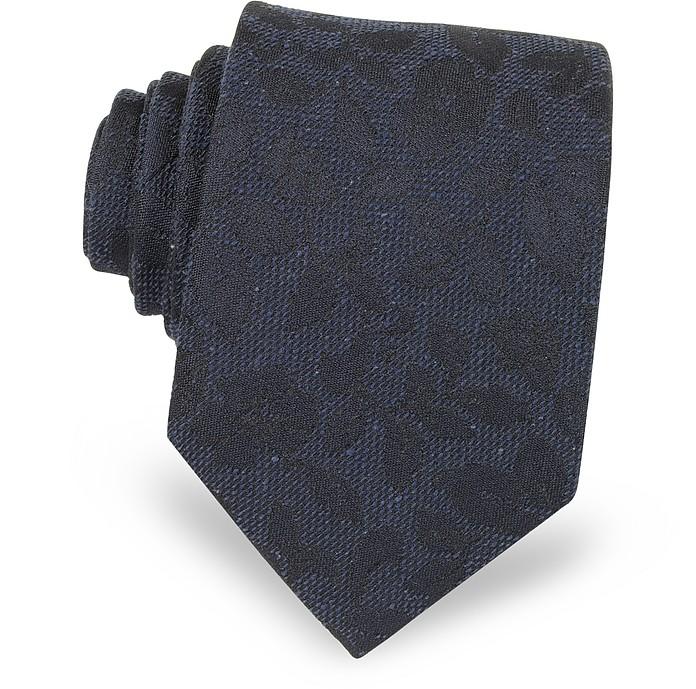 Floral Pattern Woven Silk Men's Tie - Forzieri