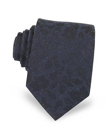 Floral Pattern Woven Silk Men's Tie
