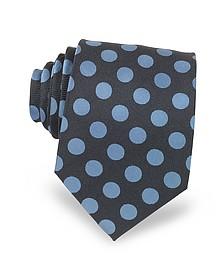 Polka Dots Woven Silk Men's Tie - Forzieri