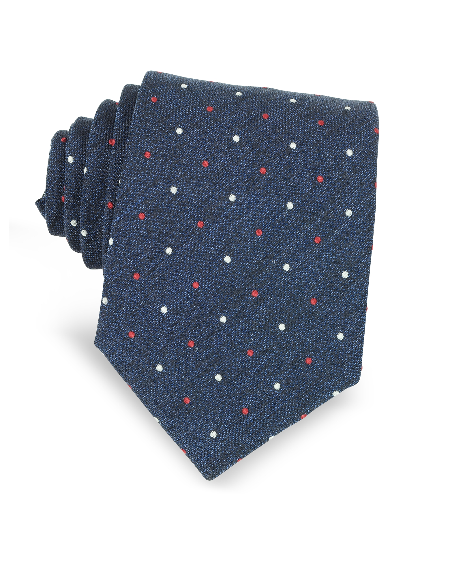 Forzieri Ties, Polka-dots Woven Silk Tie