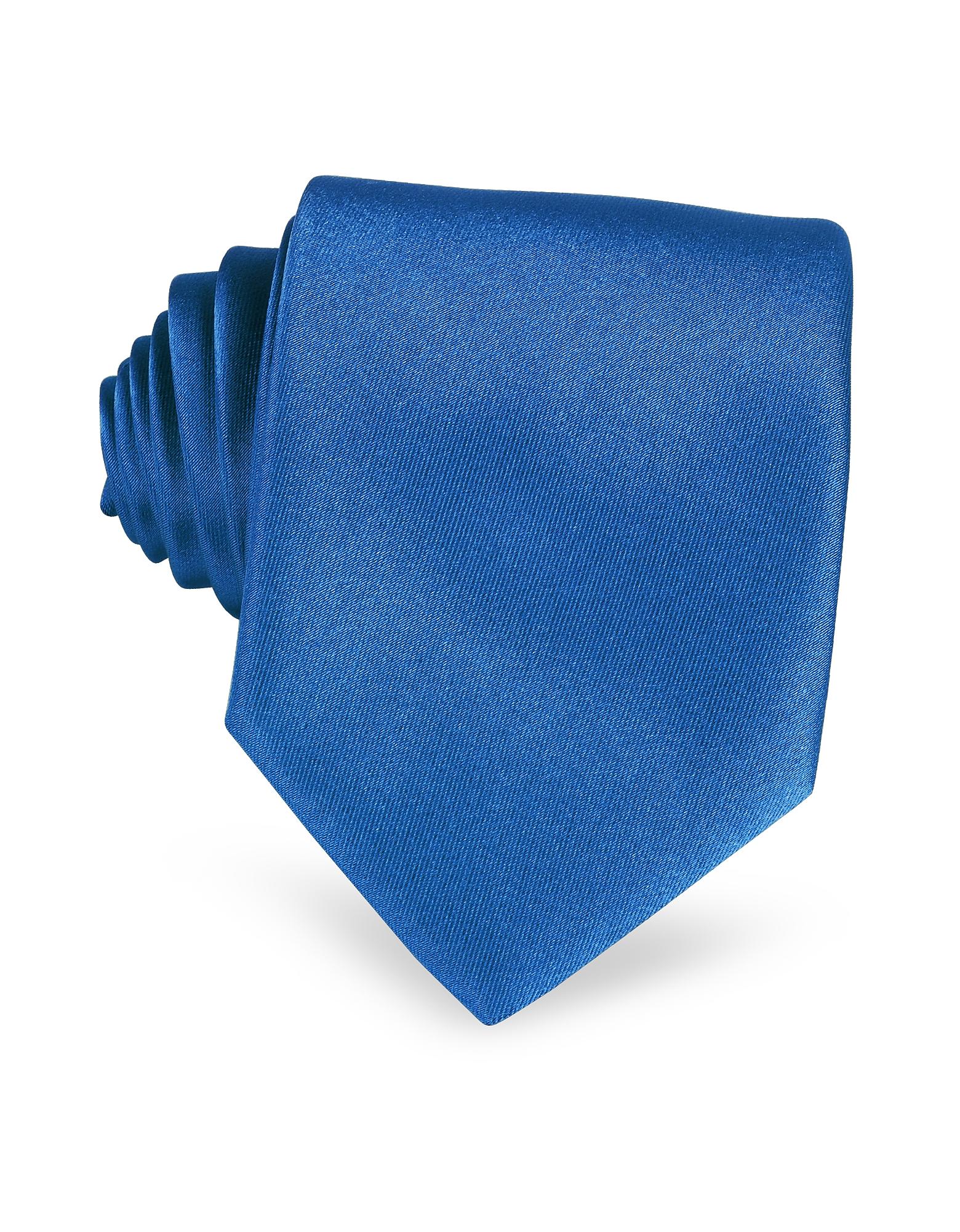 Solid Silk Tie, Blue