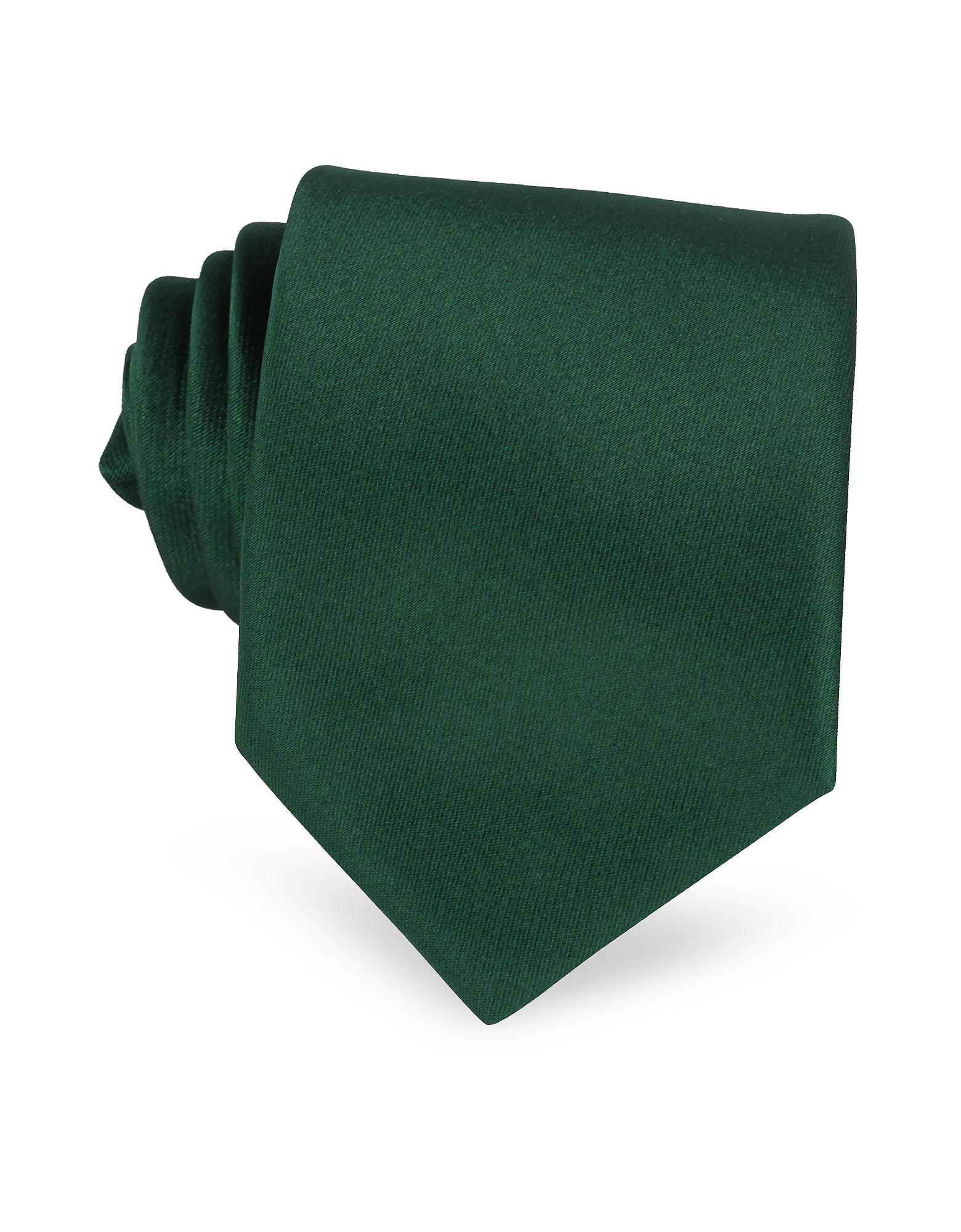 Solid Silk Tie, Dark green