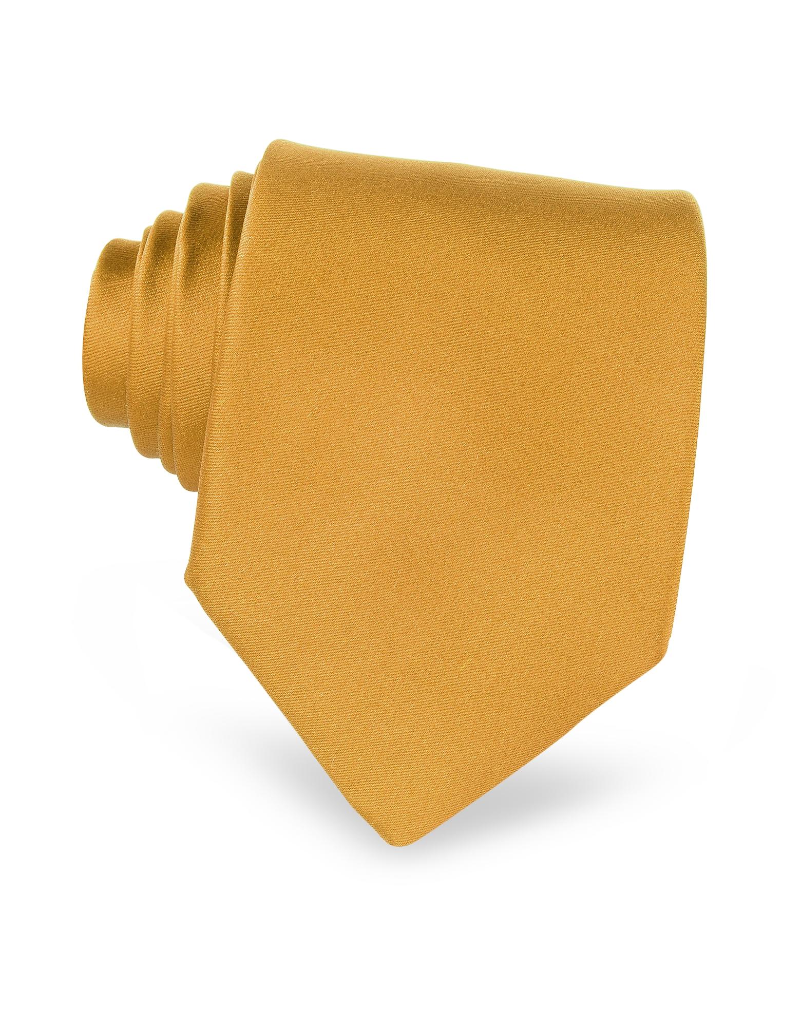 Solid Silk Tie, Gold