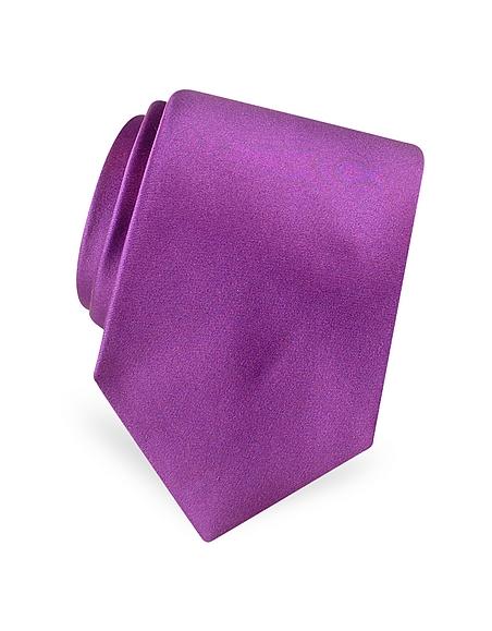Foto Forzieri Cravatta in raso seta tinta unita Cravatte