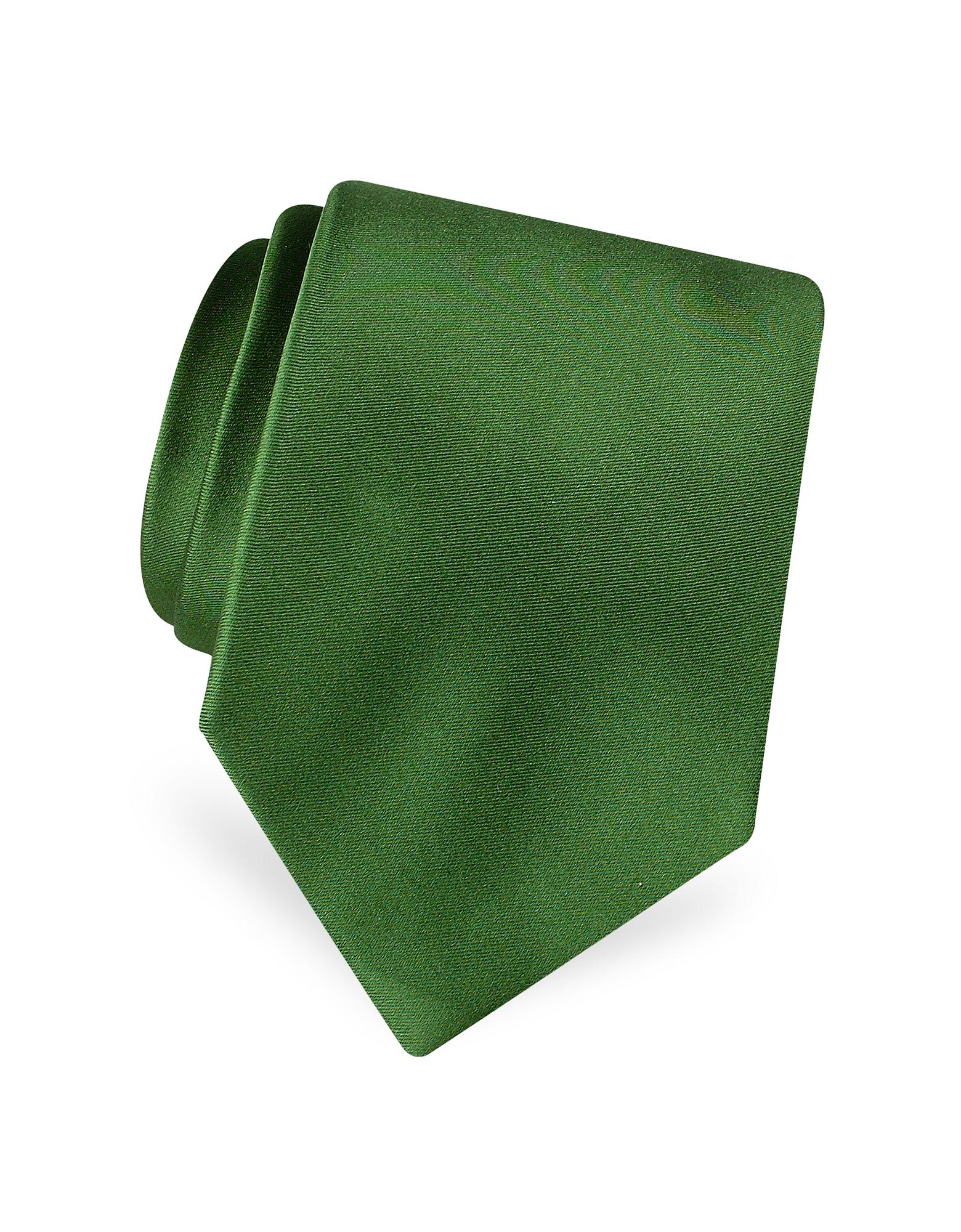 Forzieri Ties, Solid Pure Silk Satin Silk Tie