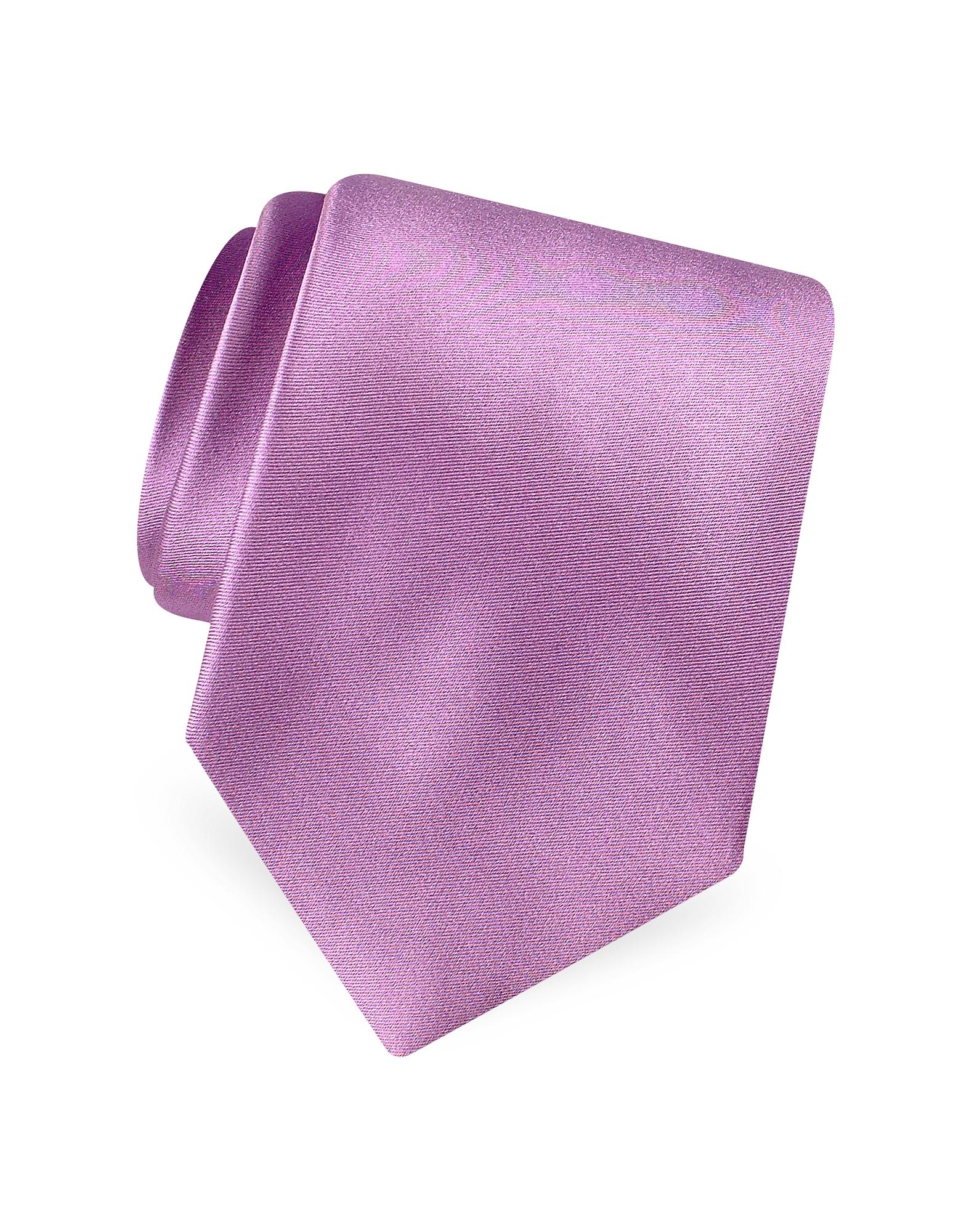 Forzieri Designer Ties, Solid Pure Silk Satin Silk Tie