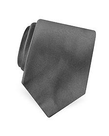Solid Pure Silk Satin Silk Tie - Forzieri
