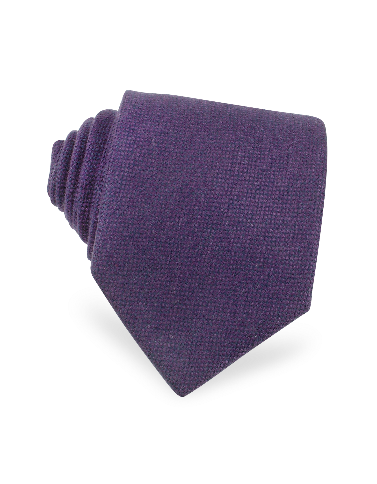 Image of Solid Purple Cashmere Extra-Long Tie