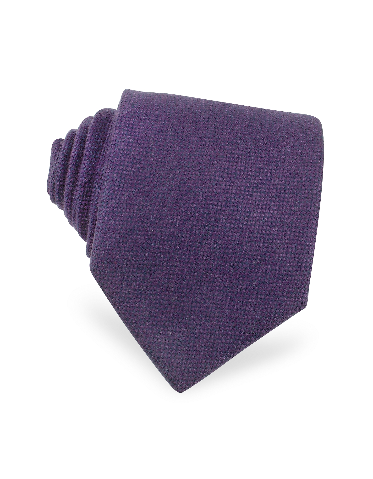 Forzieri Ties, Solid Purple Cashmere Extra-Long Tie