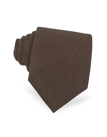 Forzieri Cravate extra-longue en cashmere marron
