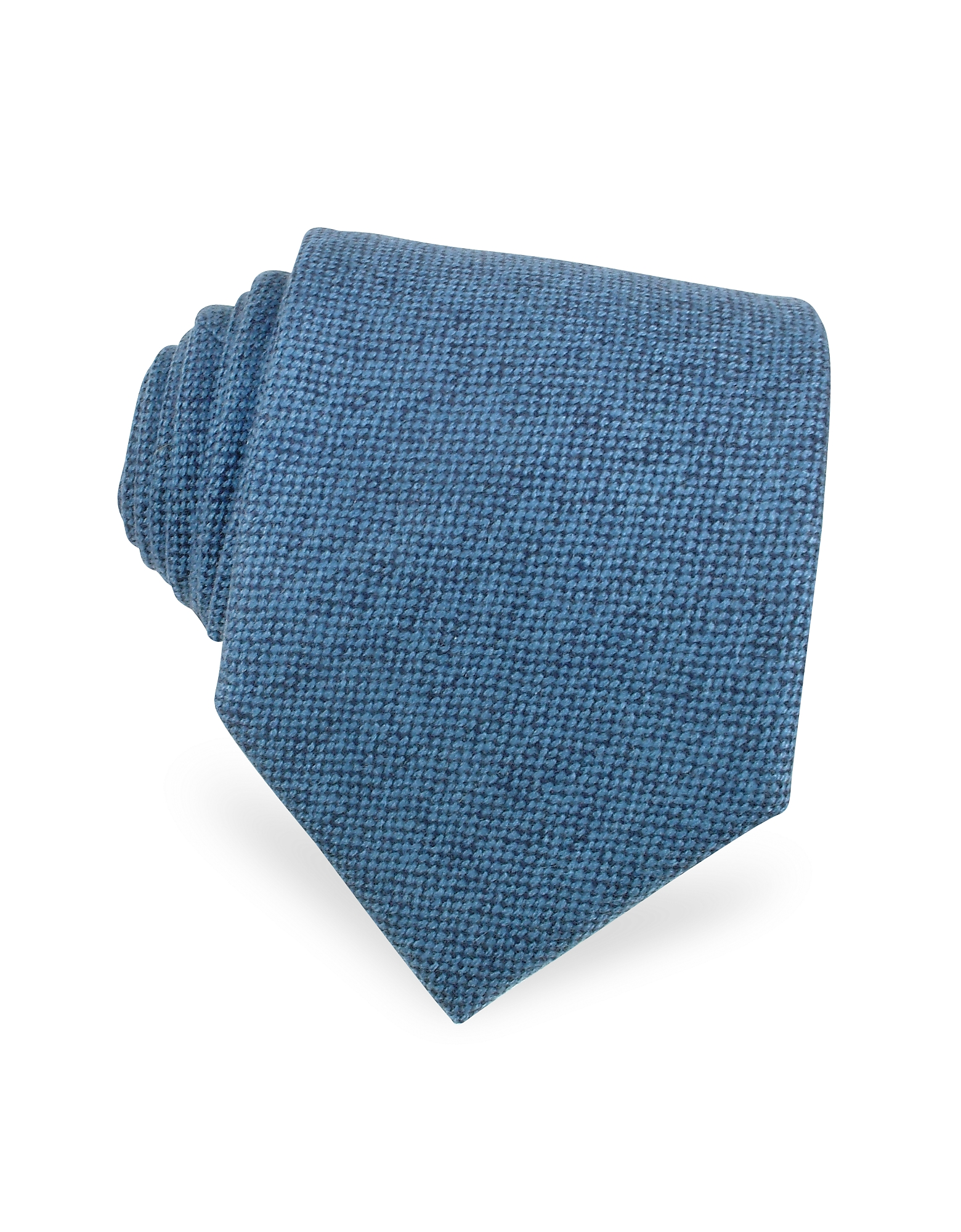 Solid Sky Blue Cashmere Extra-Long Tie