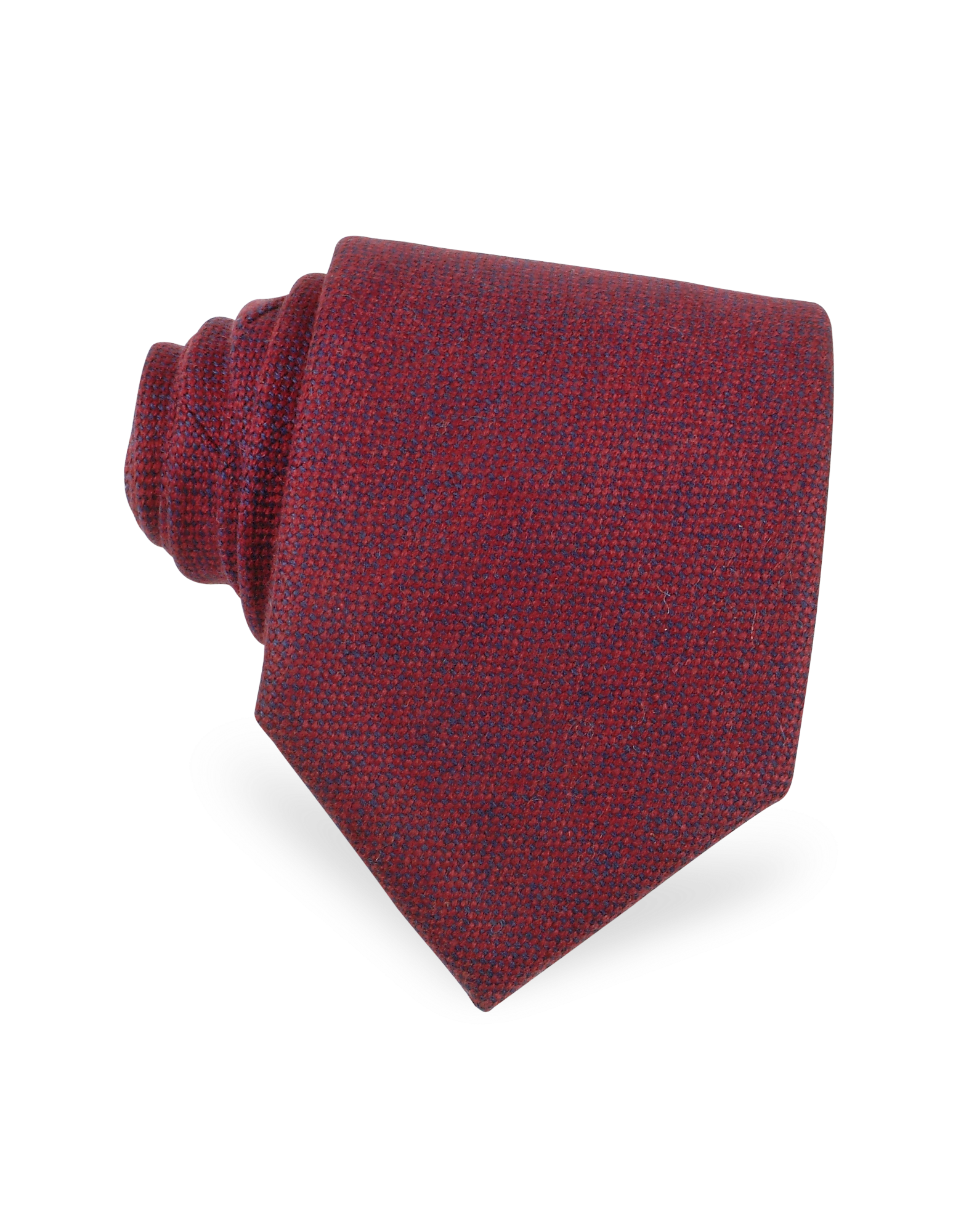 Image of Red and Blue Textured Cashmere Tie