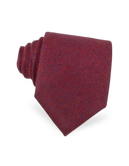 Foto Forzieri Cravatta Extra-Long in Cachemire Rosso Cravatte