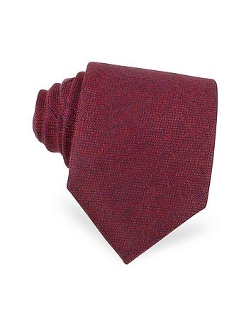 Forzieri Cravate extra-longue en cashmere rouge