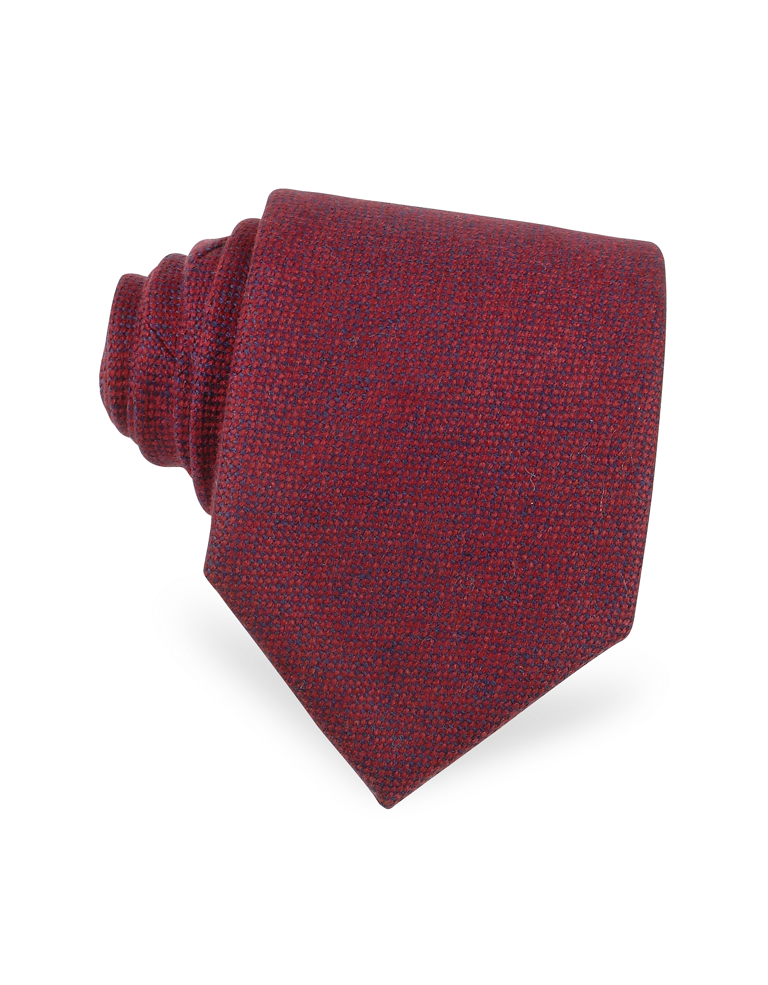 Red and Blue Textured Cashmere Tie
