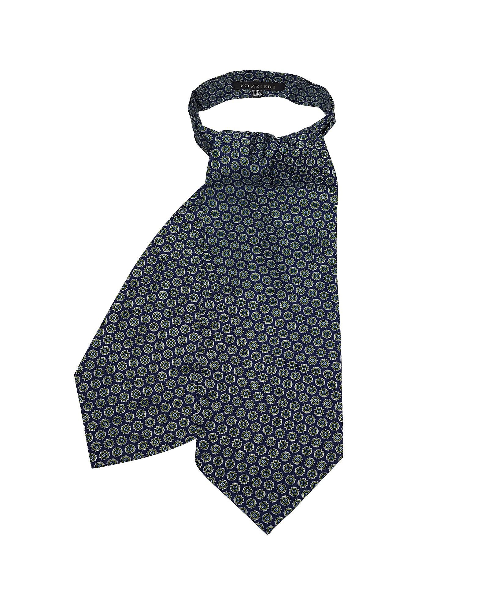 Daisy Imprimé En Sergé De Soie Cravate Ascot