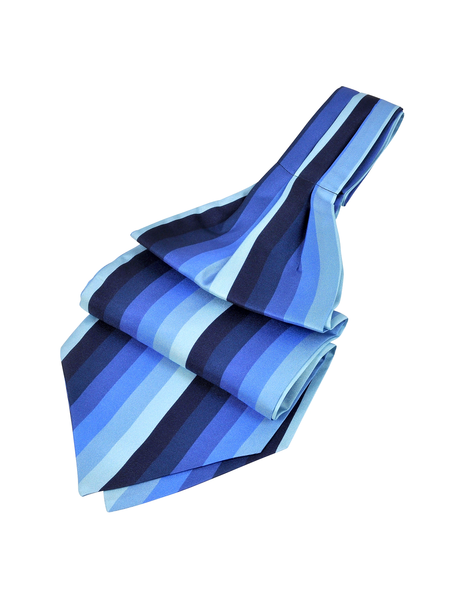 Forzieri Ascot ties, Vertical Stripe Tone on Tone Woven Silk Ascot