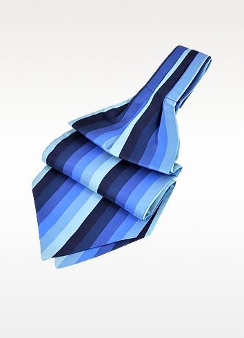 Forzieri Аскот из Текстурного Шелка в Вертикальную Полоску в Тон