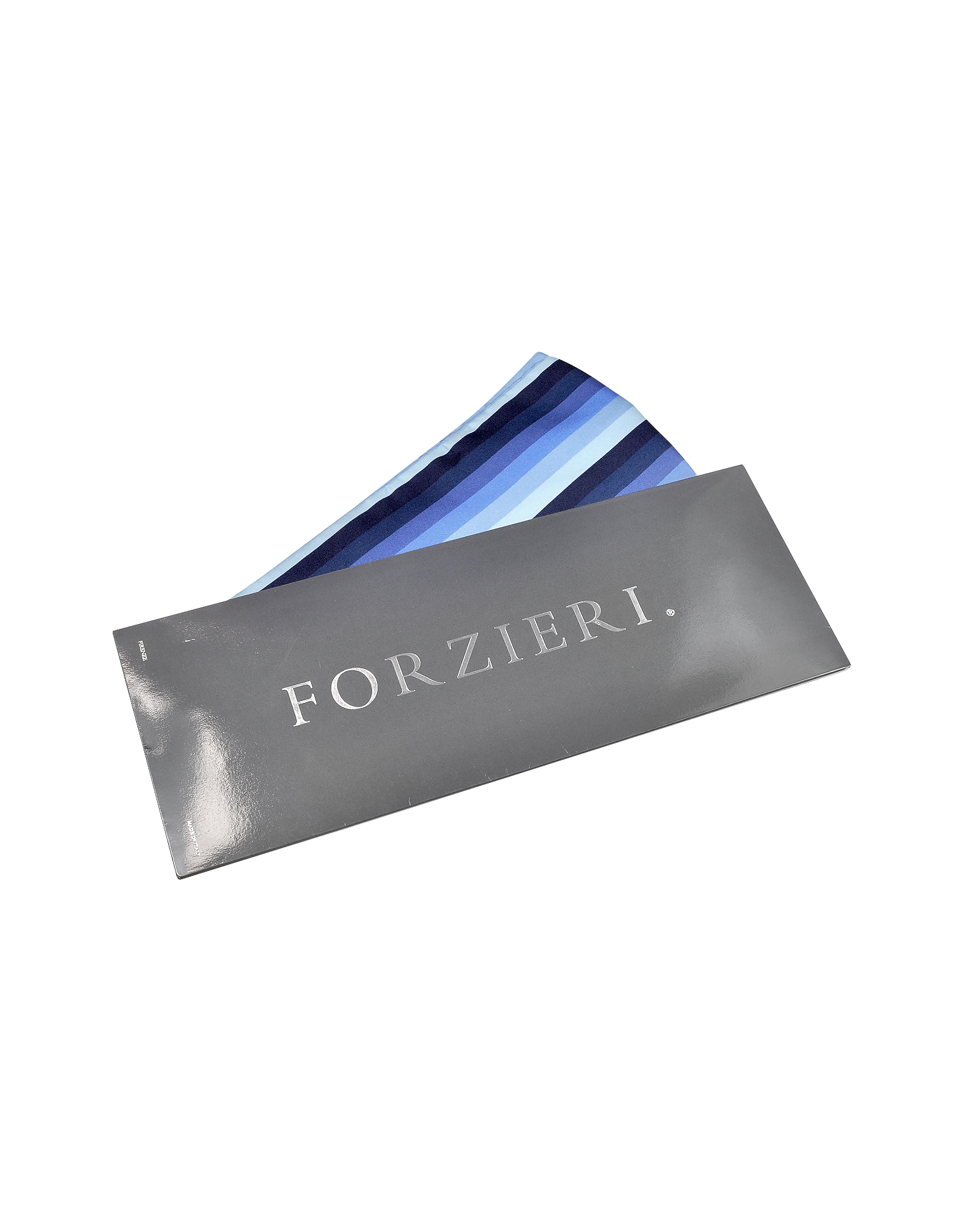 Vertical Stripe Tone on Tone Woven Silk Ascot от Forzieri.com INT