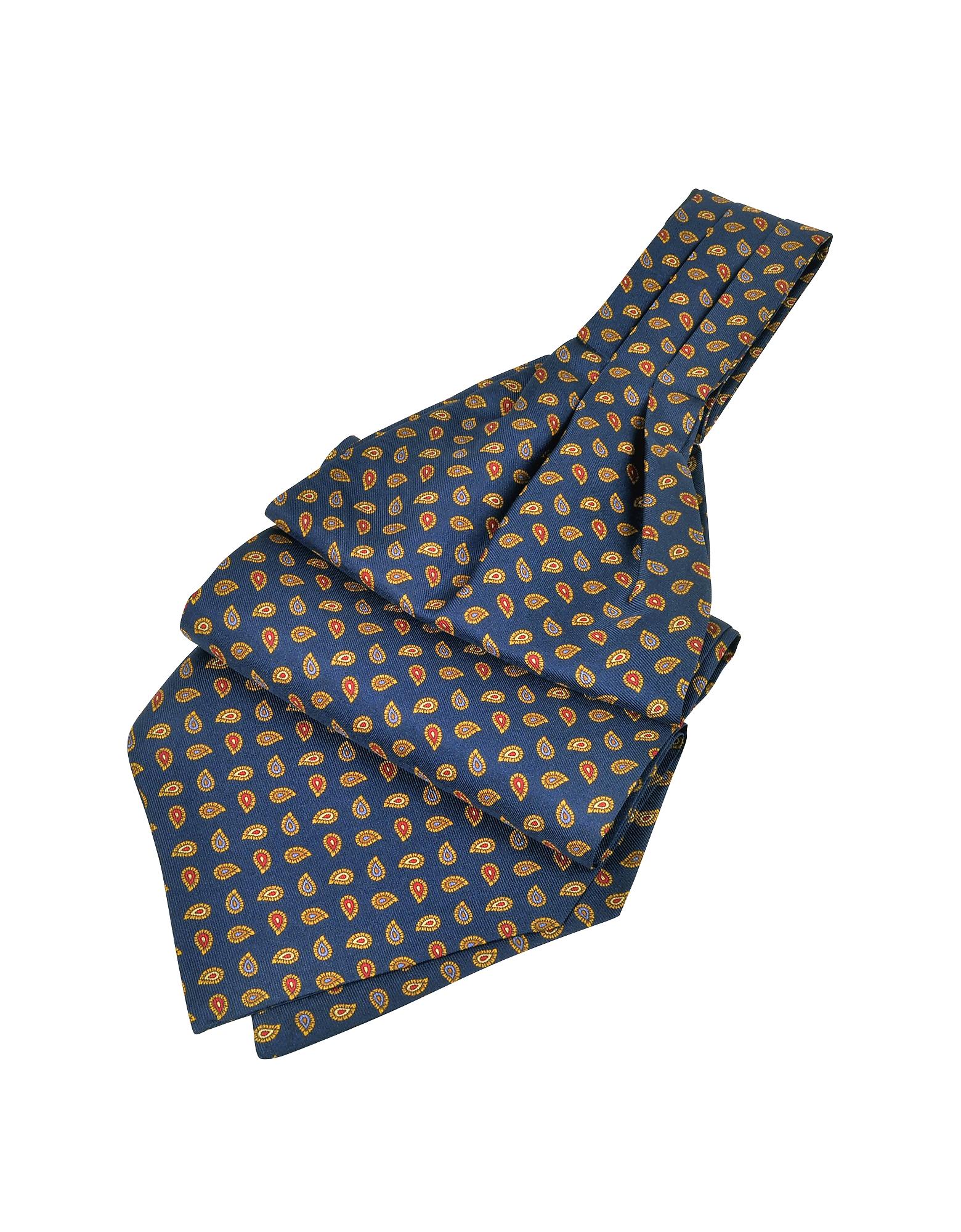 Image of Forzieri Designer Ascot ties, Mini Paisley Print Silk Ascot