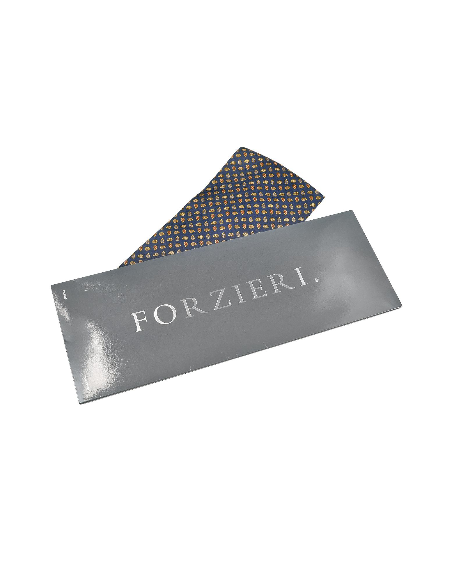 Mini Paisley Print Silk Ascot от Forzieri.com INT