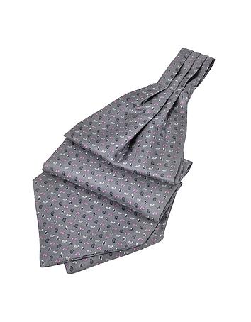 Steampunk Clothing- Men's Micro Paisley Print Silk Ascot $80.00 AT vintagedancer.com