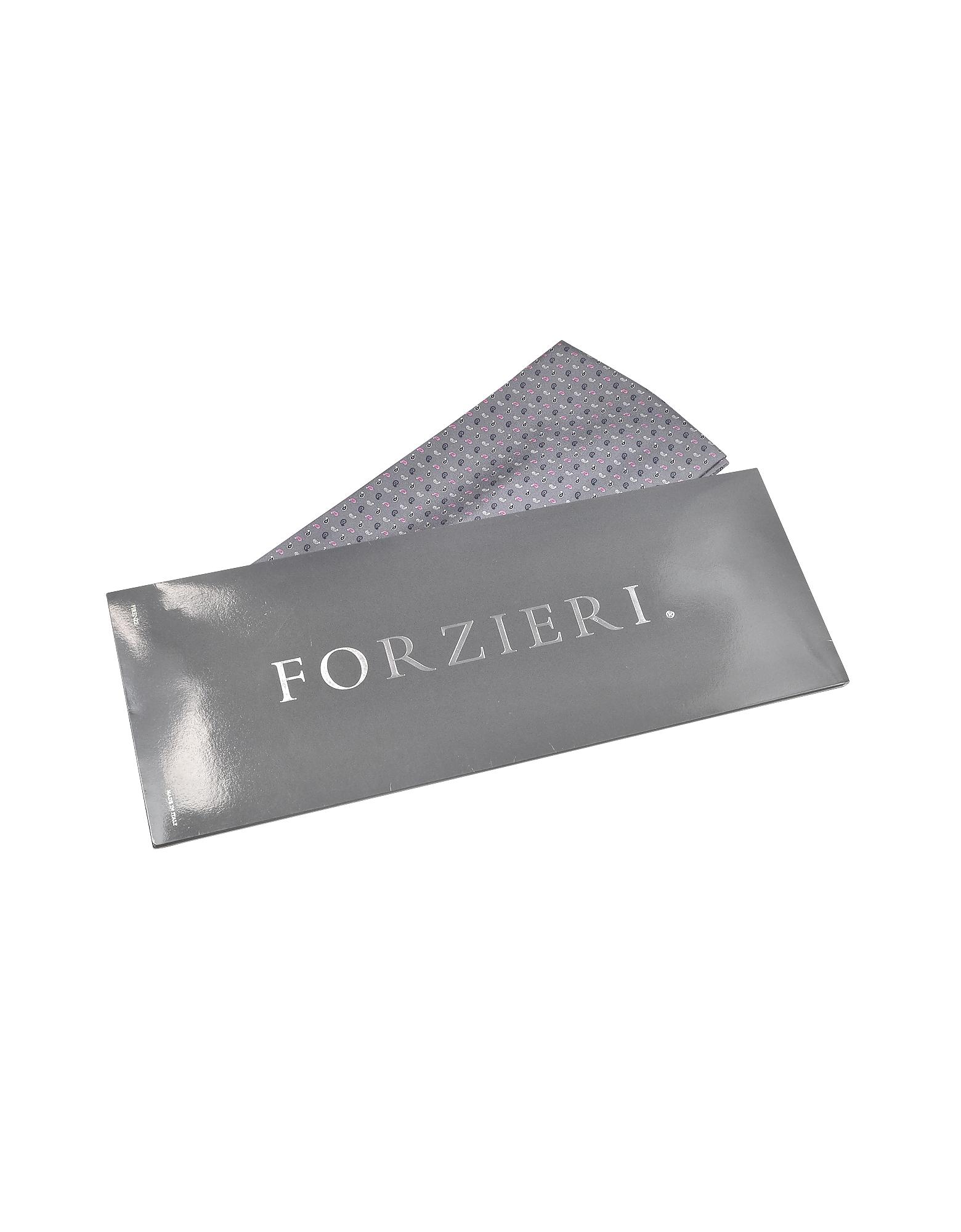 Micro Paisley Print Silk Ascot от Forzieri.com INT