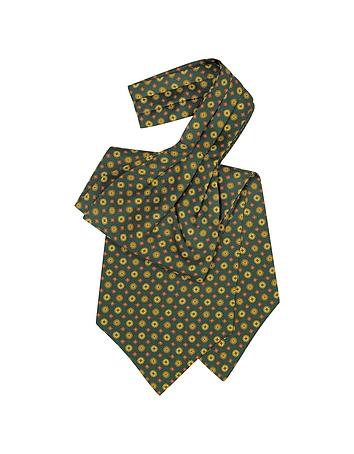 Forzieri - Floral Print Silk Tie Ascot