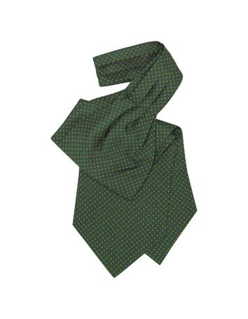 Victorian Mens Ties Mini Daisy Print Silk Ascot $80.00 AT vintagedancer.com