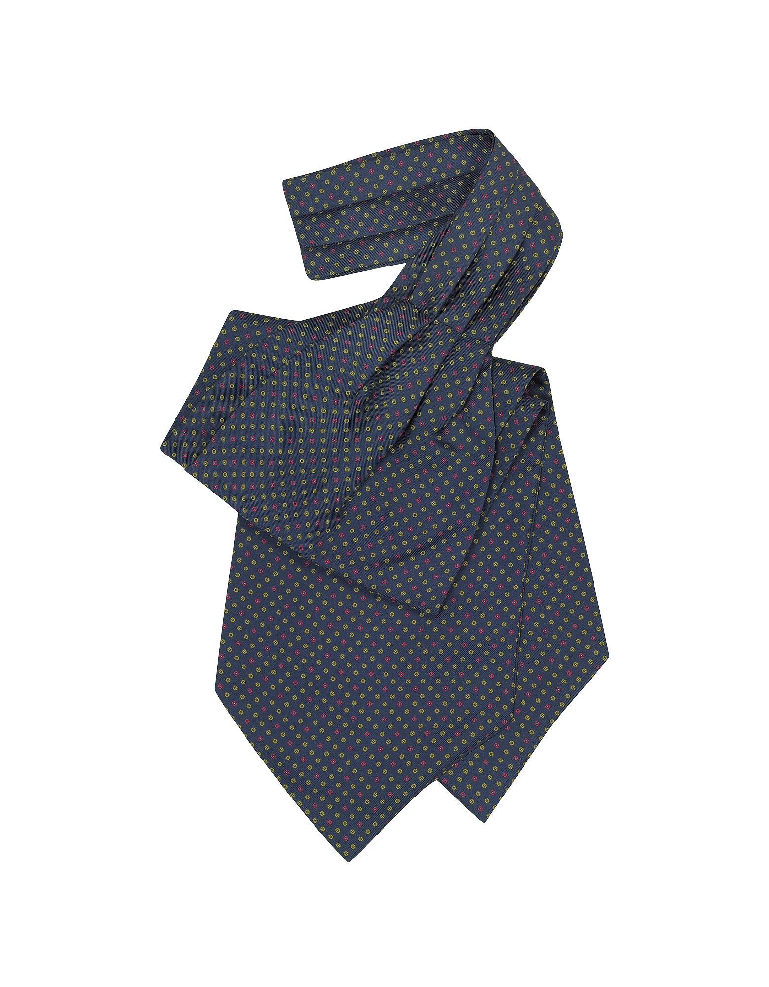 Image of Forzieri Designer Ascot ties, Mini Daisy Print Silk Ascot