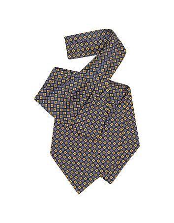 Steampunk Clothing- Men's Multicolor Floral Print Silk Ascot $80.00 AT vintagedancer.com