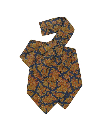 Steampunk Clothing- Men's Large Paisley Print Silk Ascot $80.00 AT vintagedancer.com