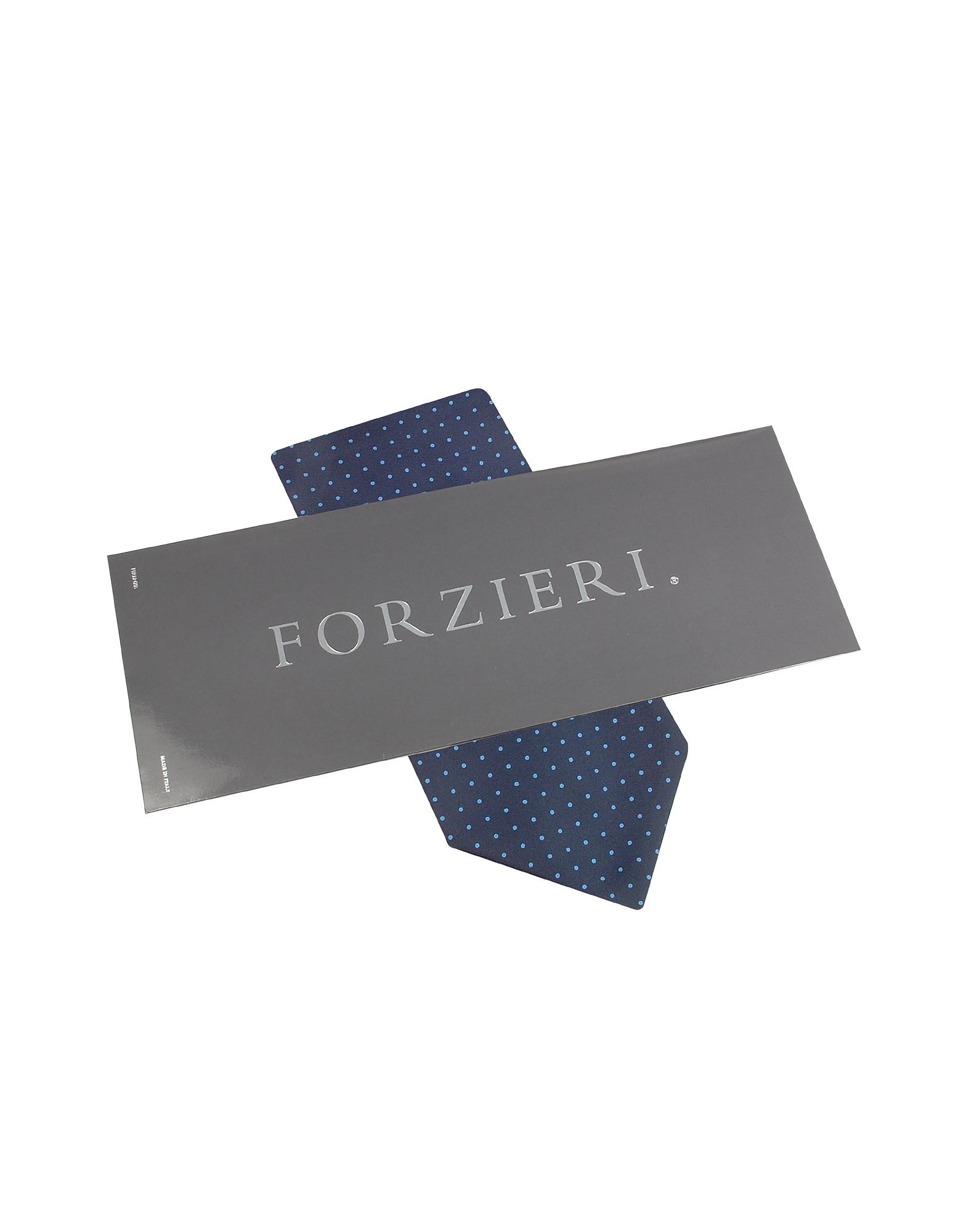 Polkadot Pattern Dark Blue Twill Silk Ascot от Forzieri.com INT