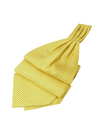 Forzieri - Mini Polkadot Yellow Silk Ascot