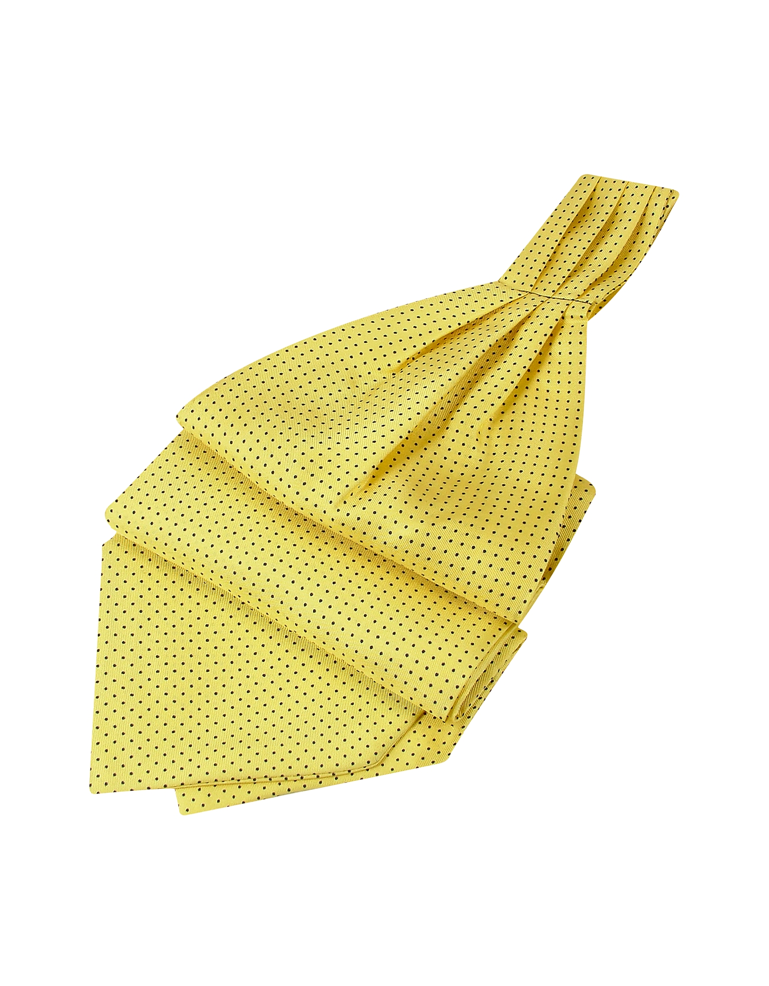 Forzieri Ascot ties, Mini Polkadot Yellow Silk Ascot