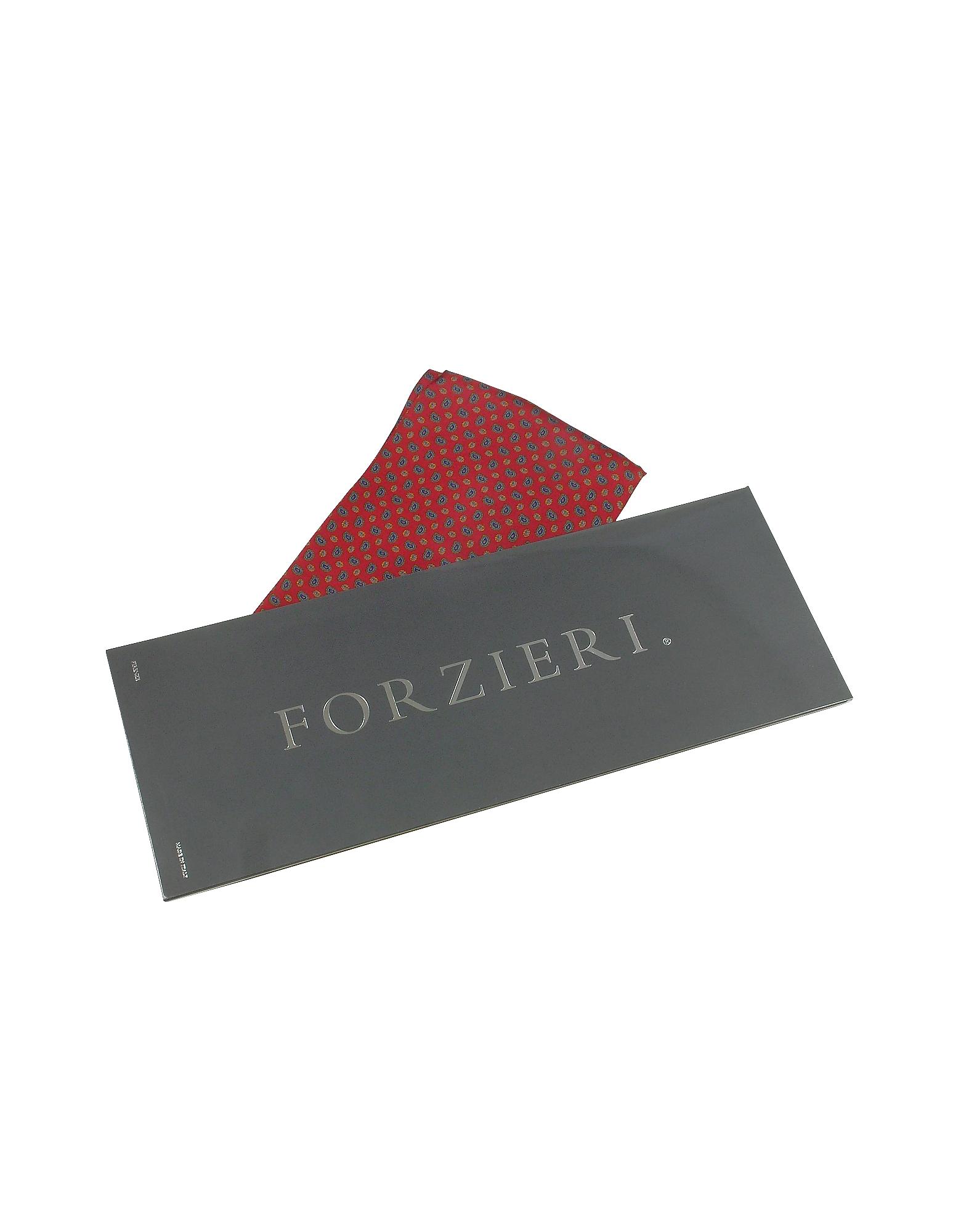 Mini Paisley Print Twill Silk Ascot от Forzieri.com INT