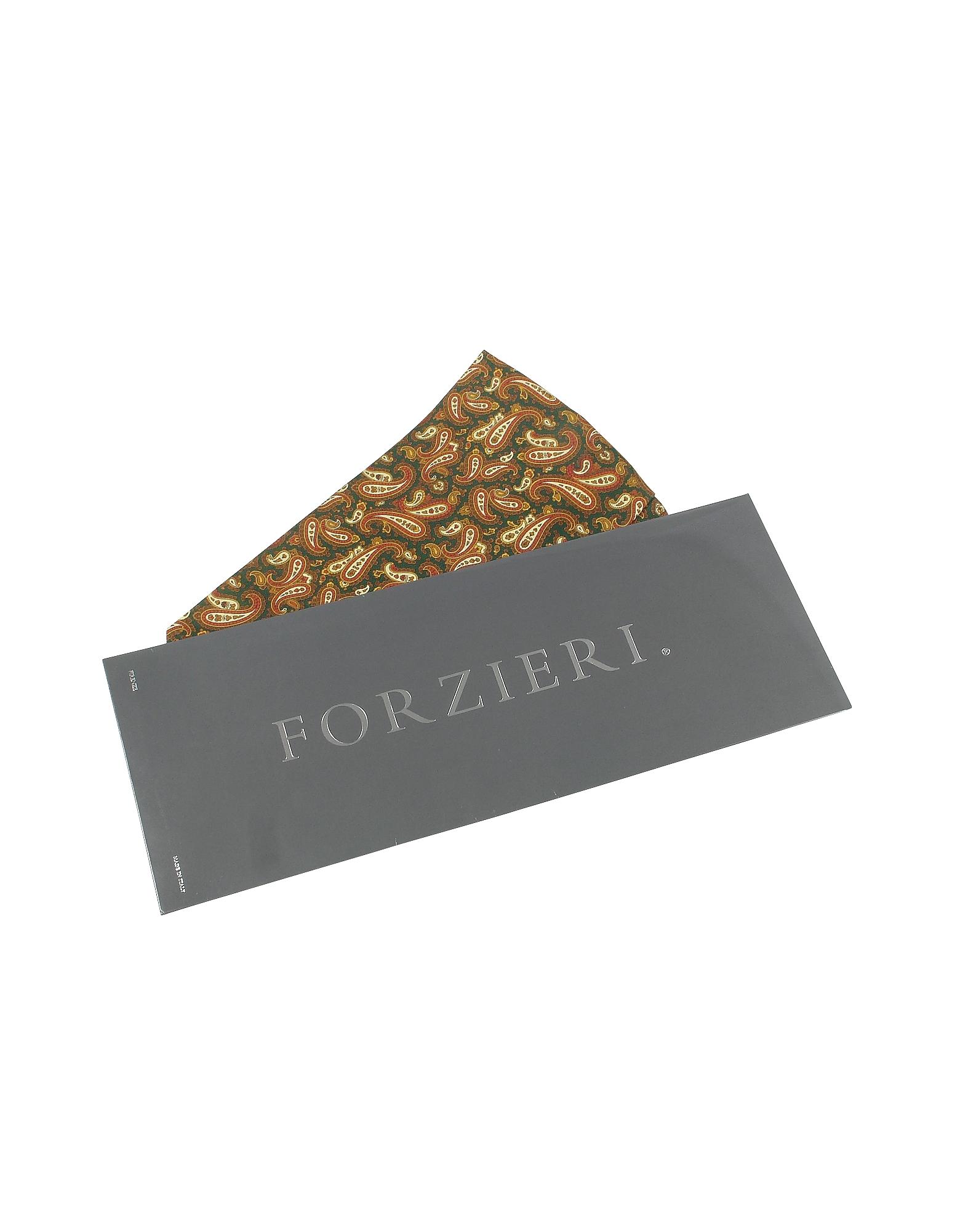 Paisley Print Twill Silk Ascot от Forzieri.com INT