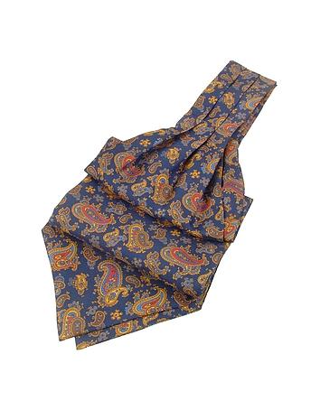 Steampunk Ties Paisley Print Twill Silk Ascot $80.00 AT vintagedancer.com