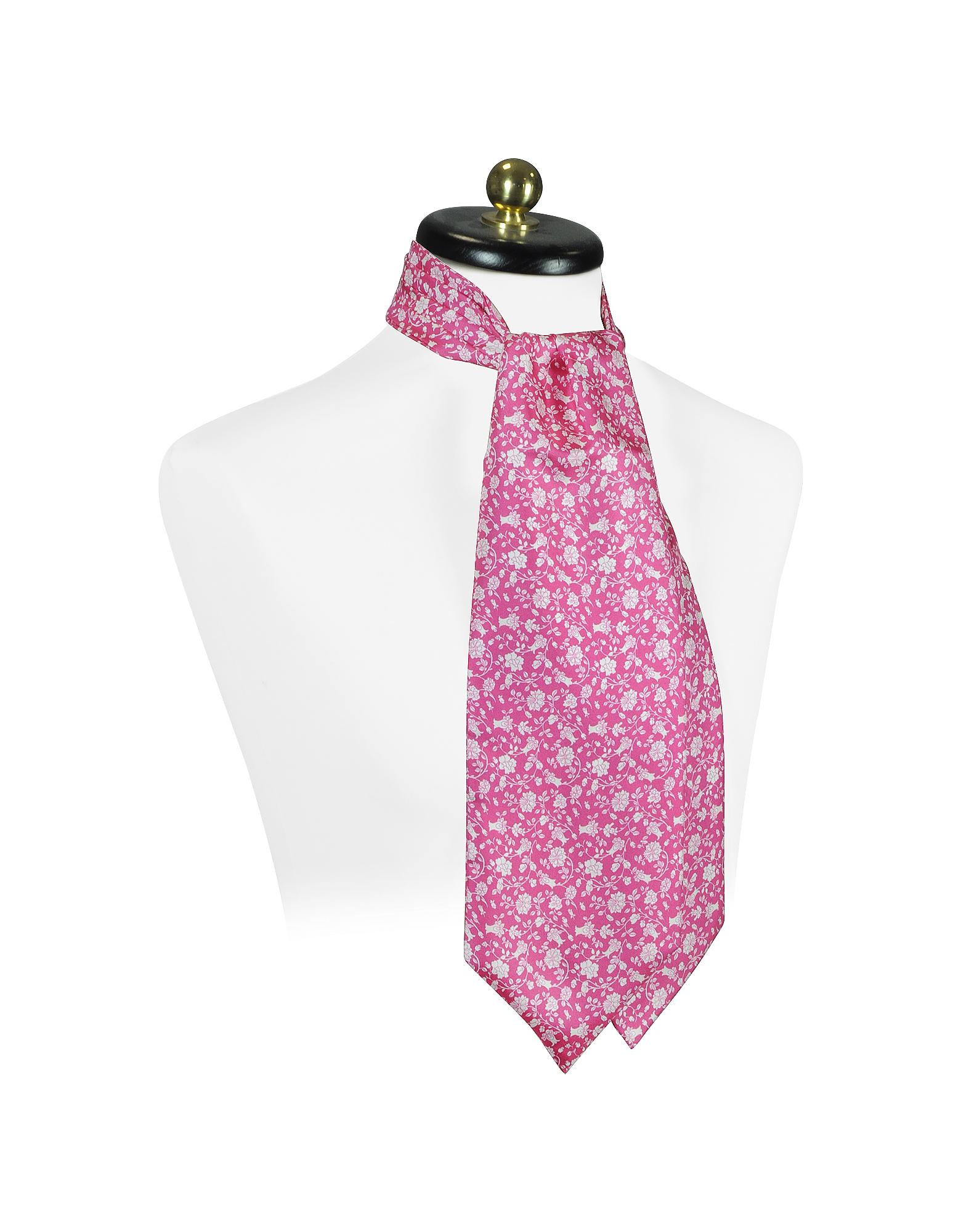 Floral Print Silk Ascot от Forzieri.com INT