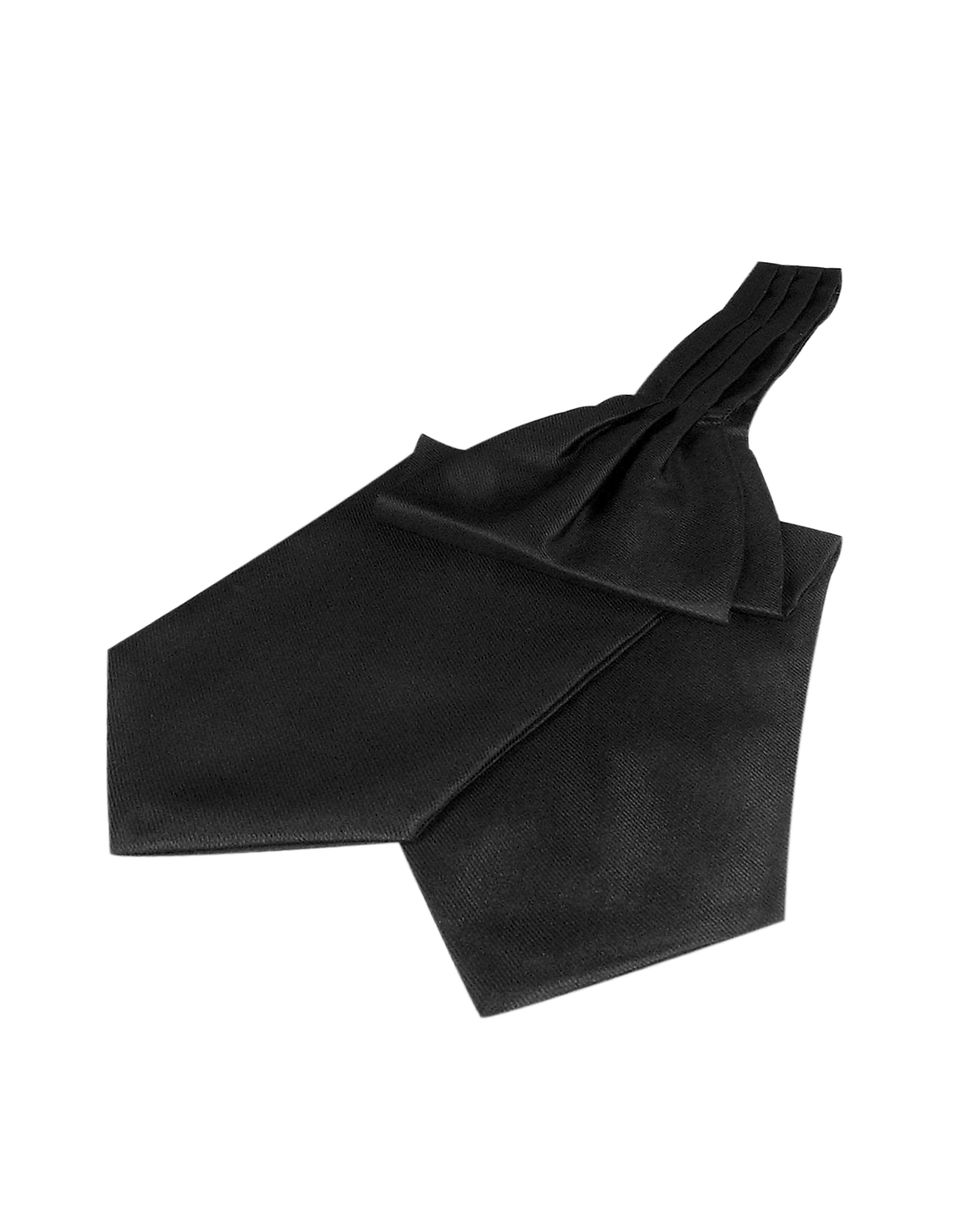 Forzieri Designer Ascot ties, Solid Color Pure Silk Ascot